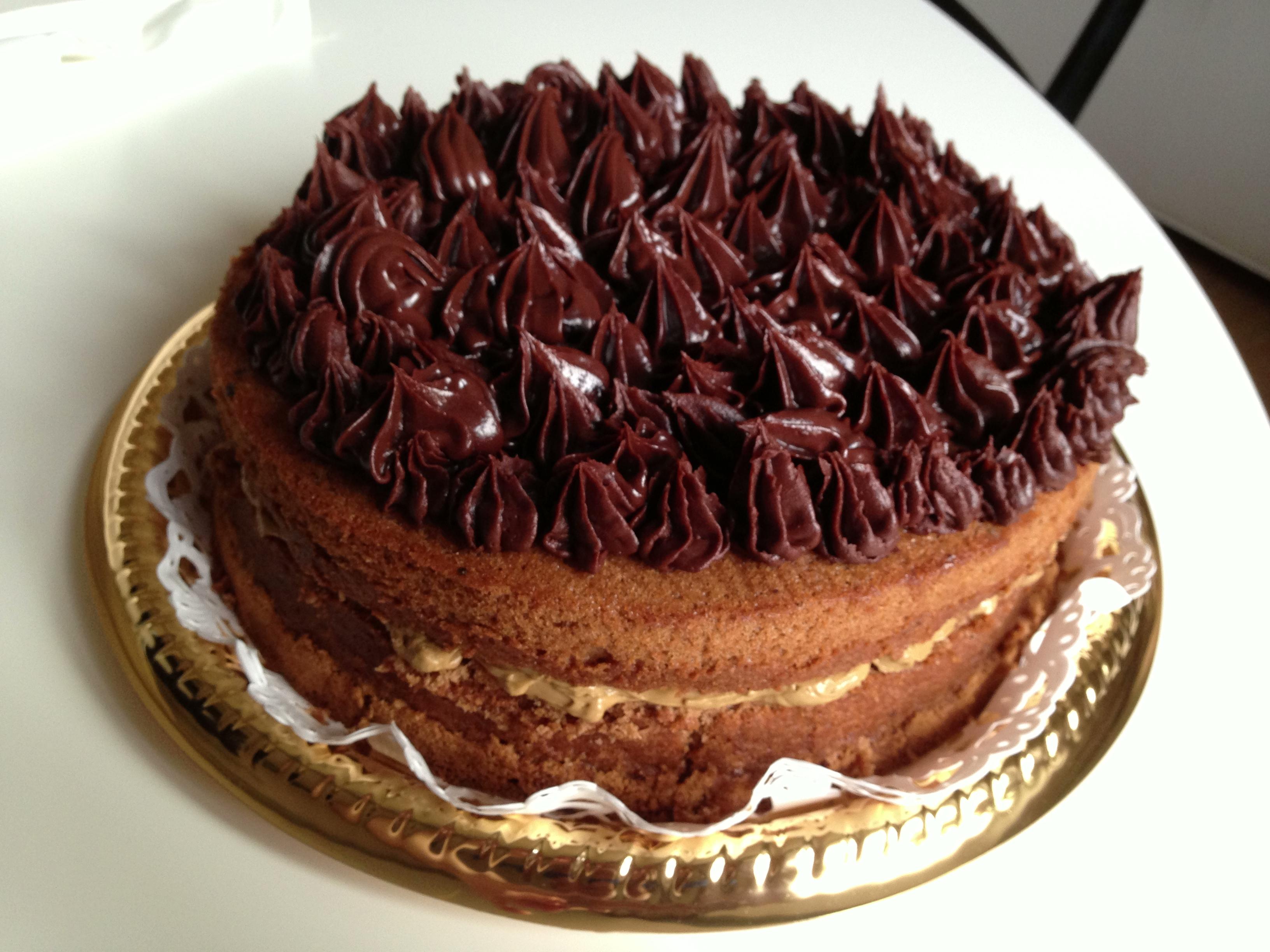Chocolate chiffon cake with salted caramel butter cream | In Cucina Da ...